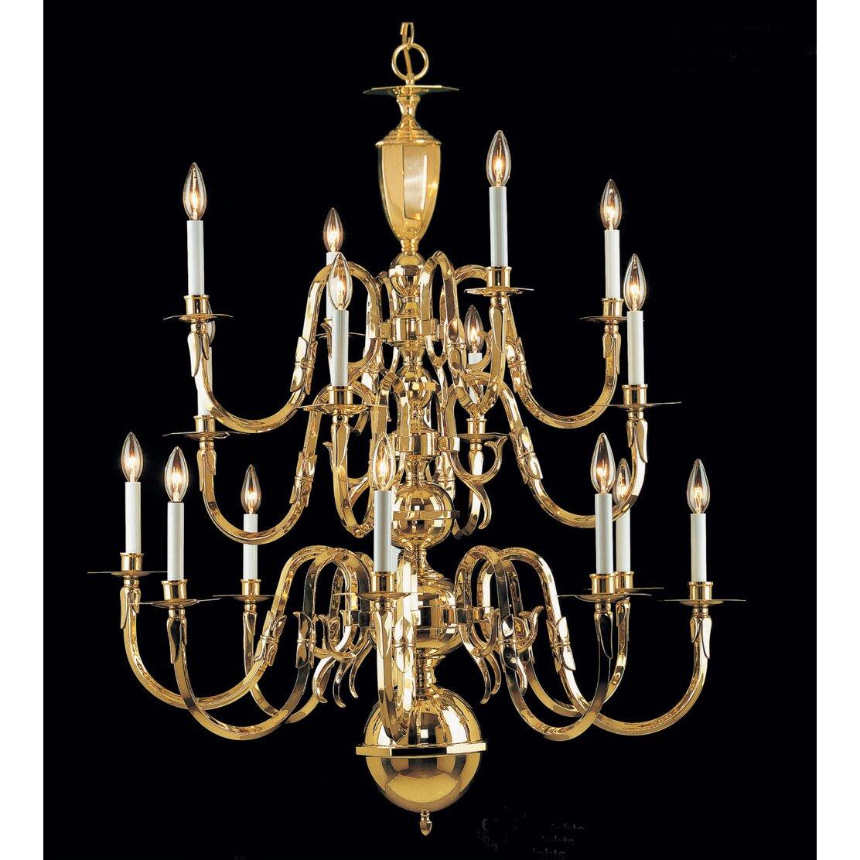 Classic Lighting Hampton 16 Light Candle Style Chandelier