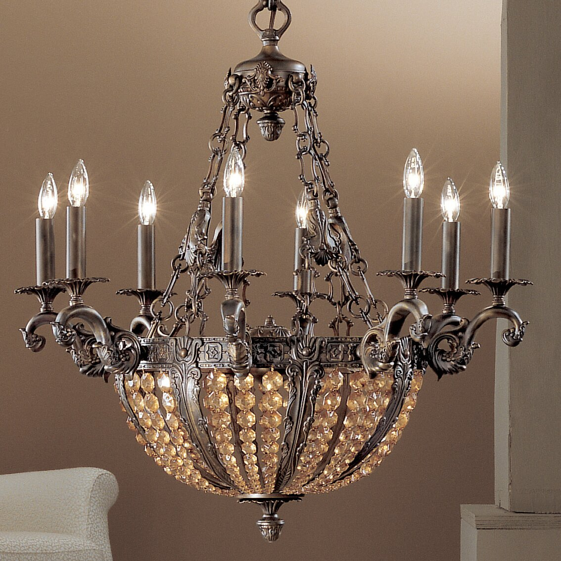 Wayfair Lights: Classic Lighting Merlot 12 Light Crystal Chandelier
