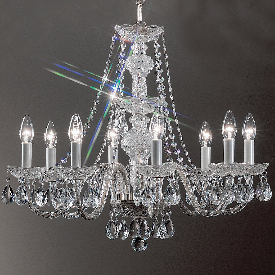 Classic Lighting Monticello 8 Light Crystal Chandelier