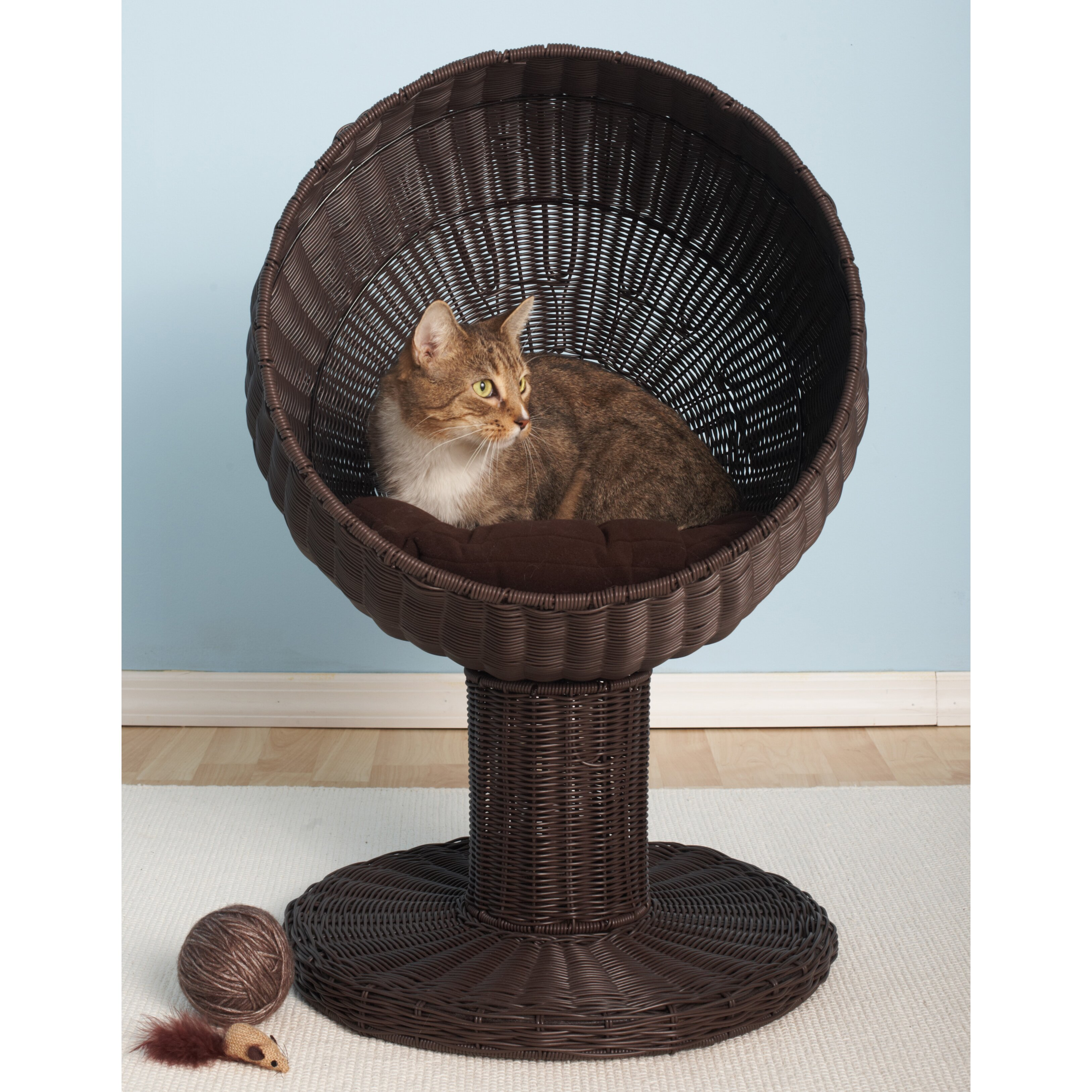 The Refined Feline Kitty Ball Hooded Cat Bed Amp Reviews
