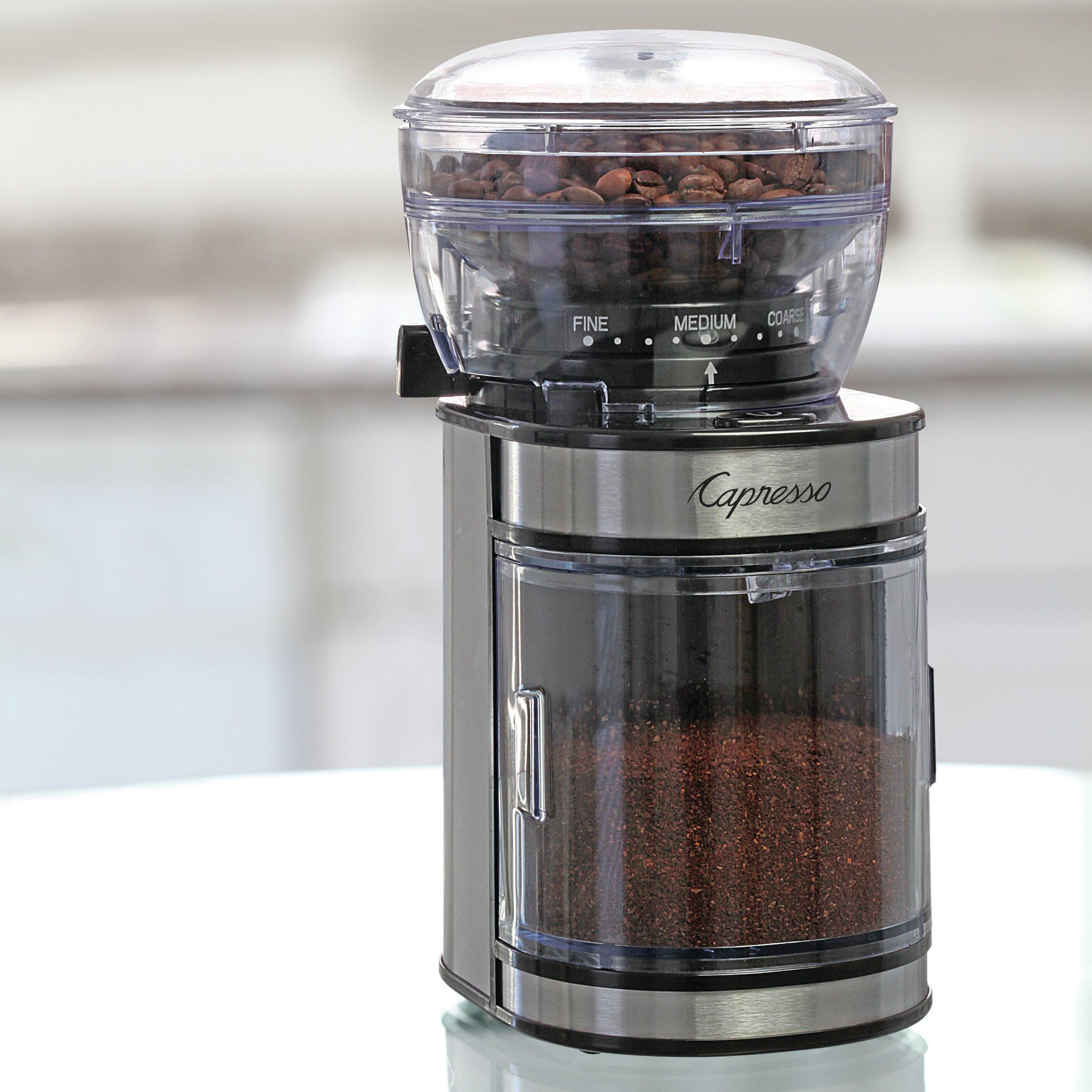 capresso ceramic electric burr coffee grinder reviews. Black Bedroom Furniture Sets. Home Design Ideas
