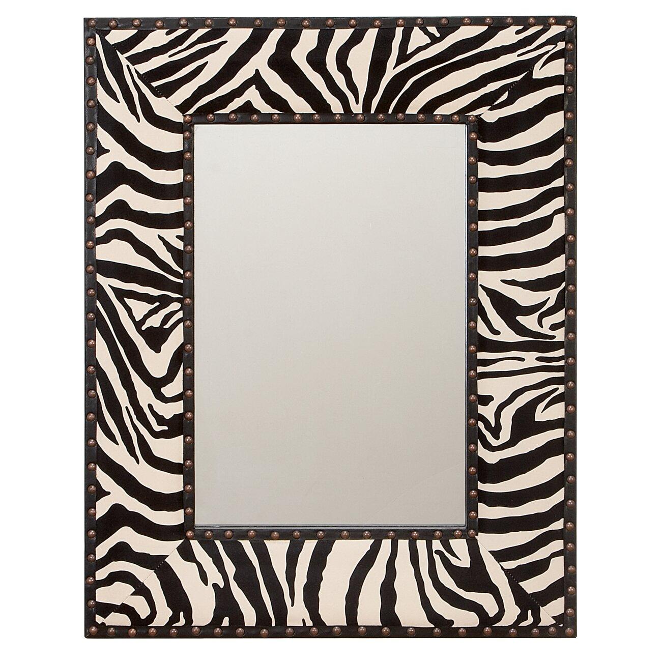 Aspire zebra wall mirror reviews wayfair for Miroir zebre