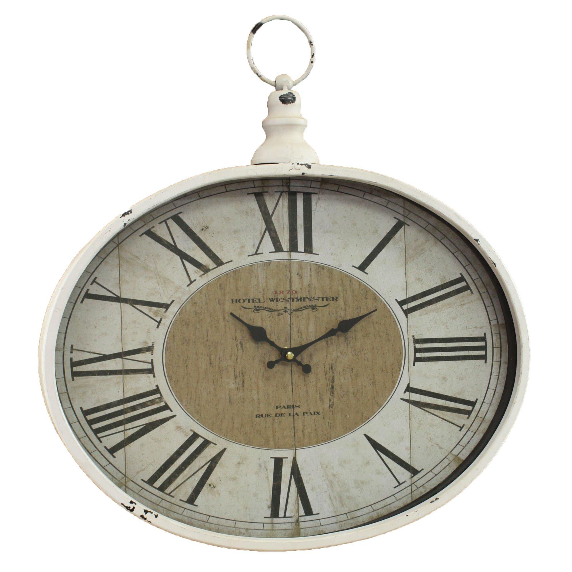 One Allium Way Pocket Watch Wall Clock Amp Reviews Wayfair