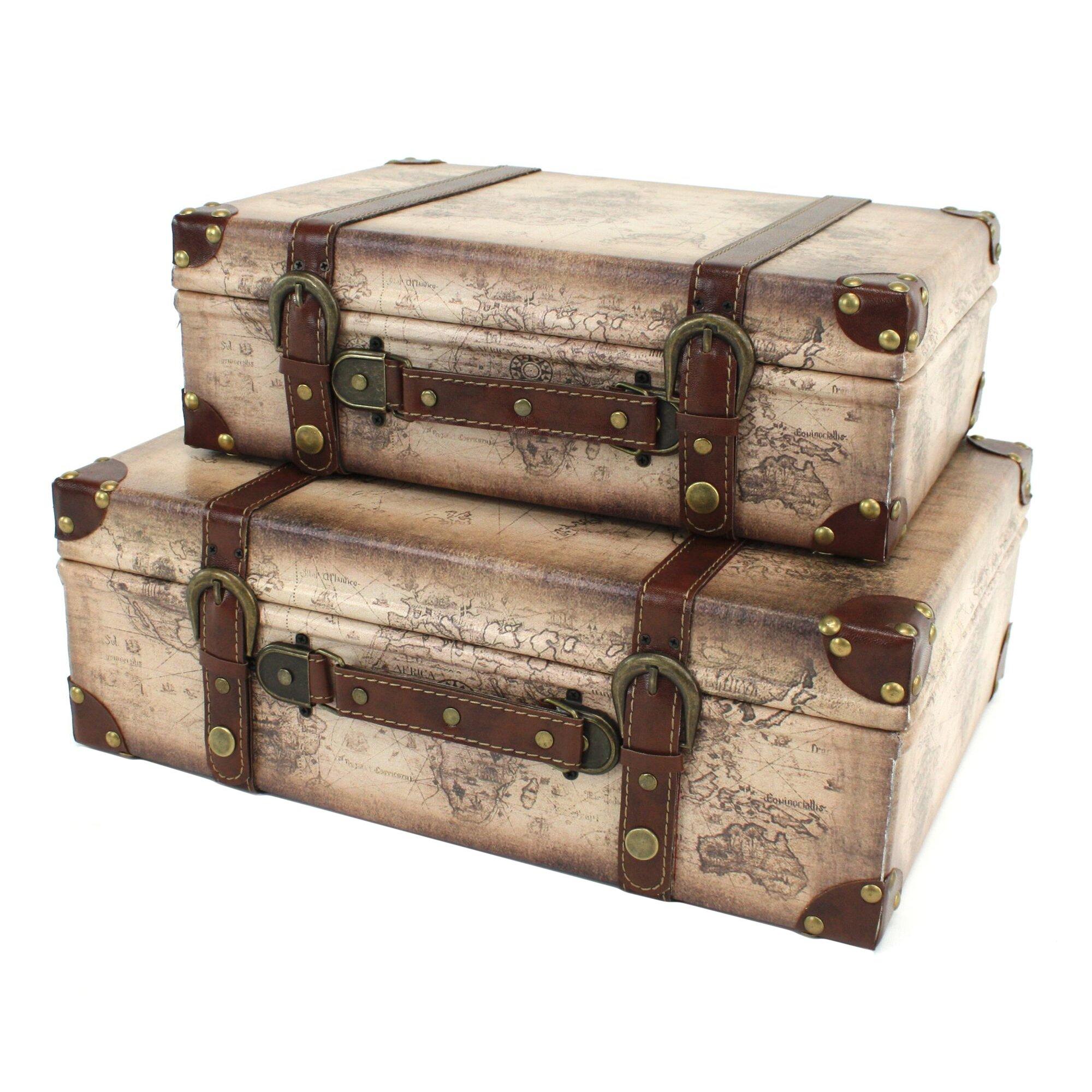 Suitcase Chair For Sale Aspire Windsor 2 Piece Suitcase Trunk Set & Reviews | Wayfair