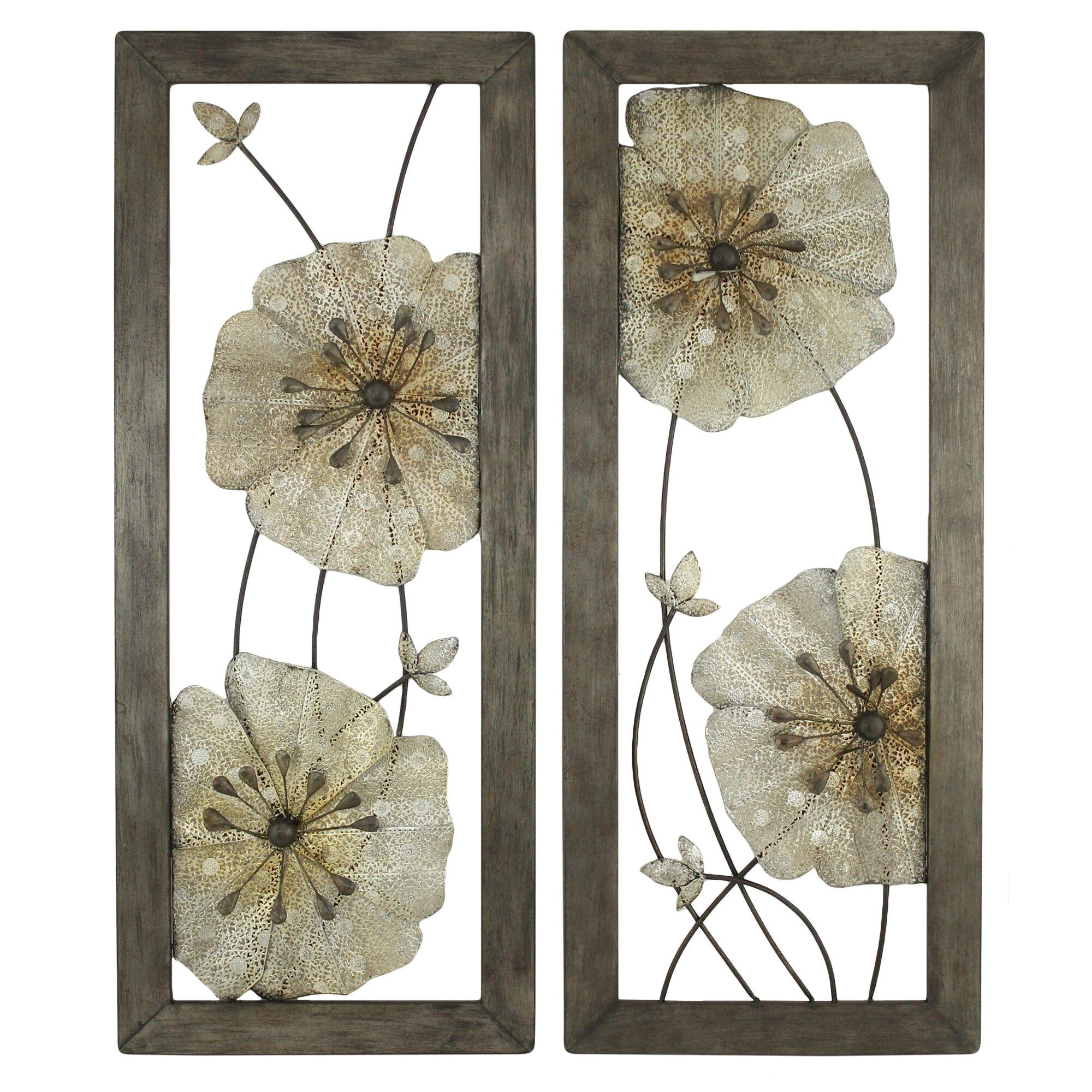 Aspire Marla 2 Piece Flower Wall Decor Set & Reviews