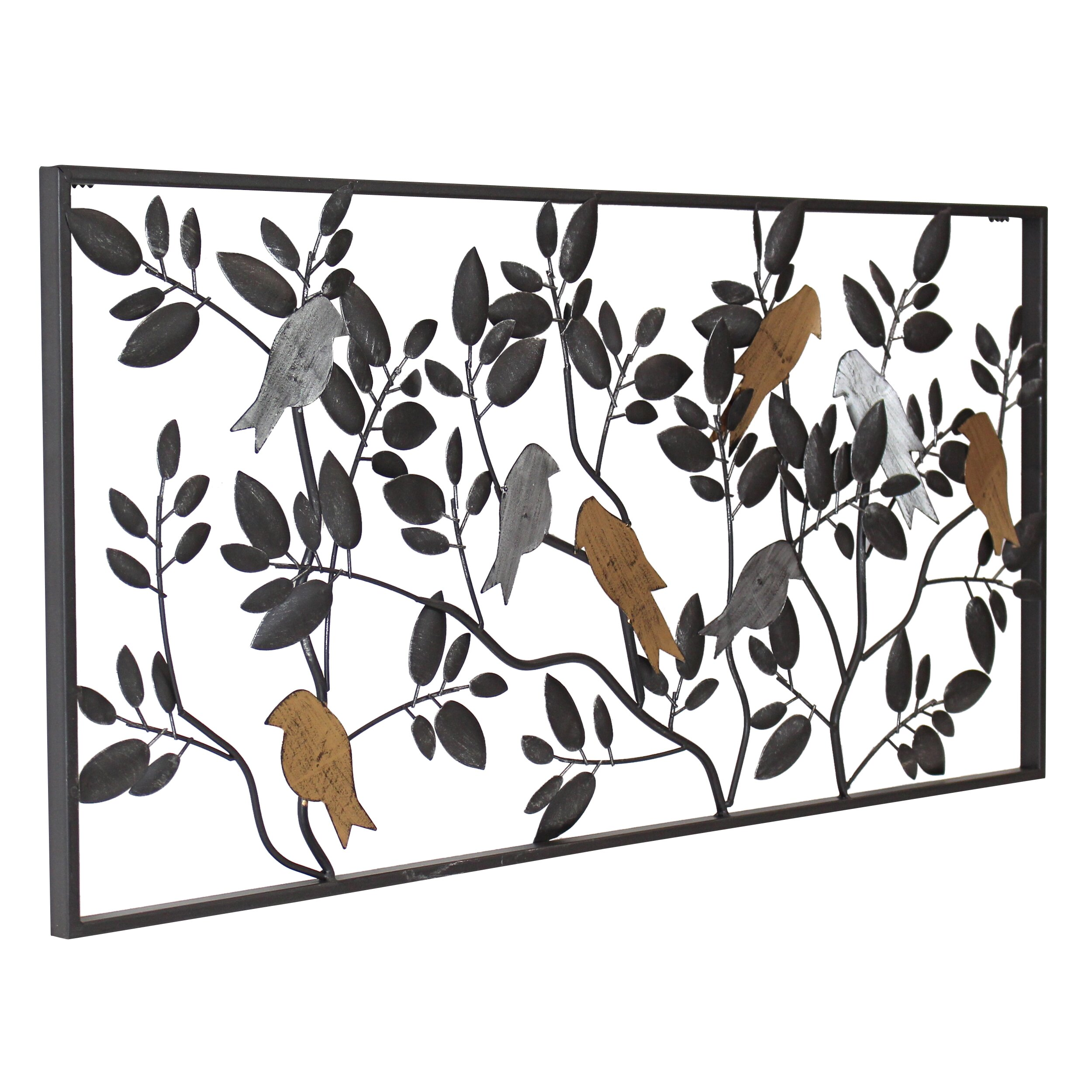 Wall Art Mirror Birds : Aspire harmony bird wall d?cor reviews wayfair
