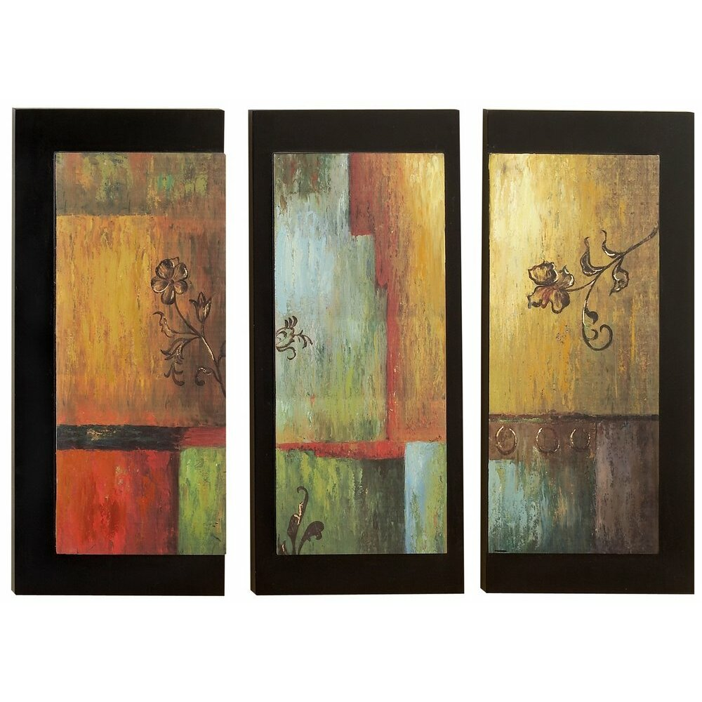 Aspire 3 piece modern wall decor set reviews wayfair for Modern decorative pieces
