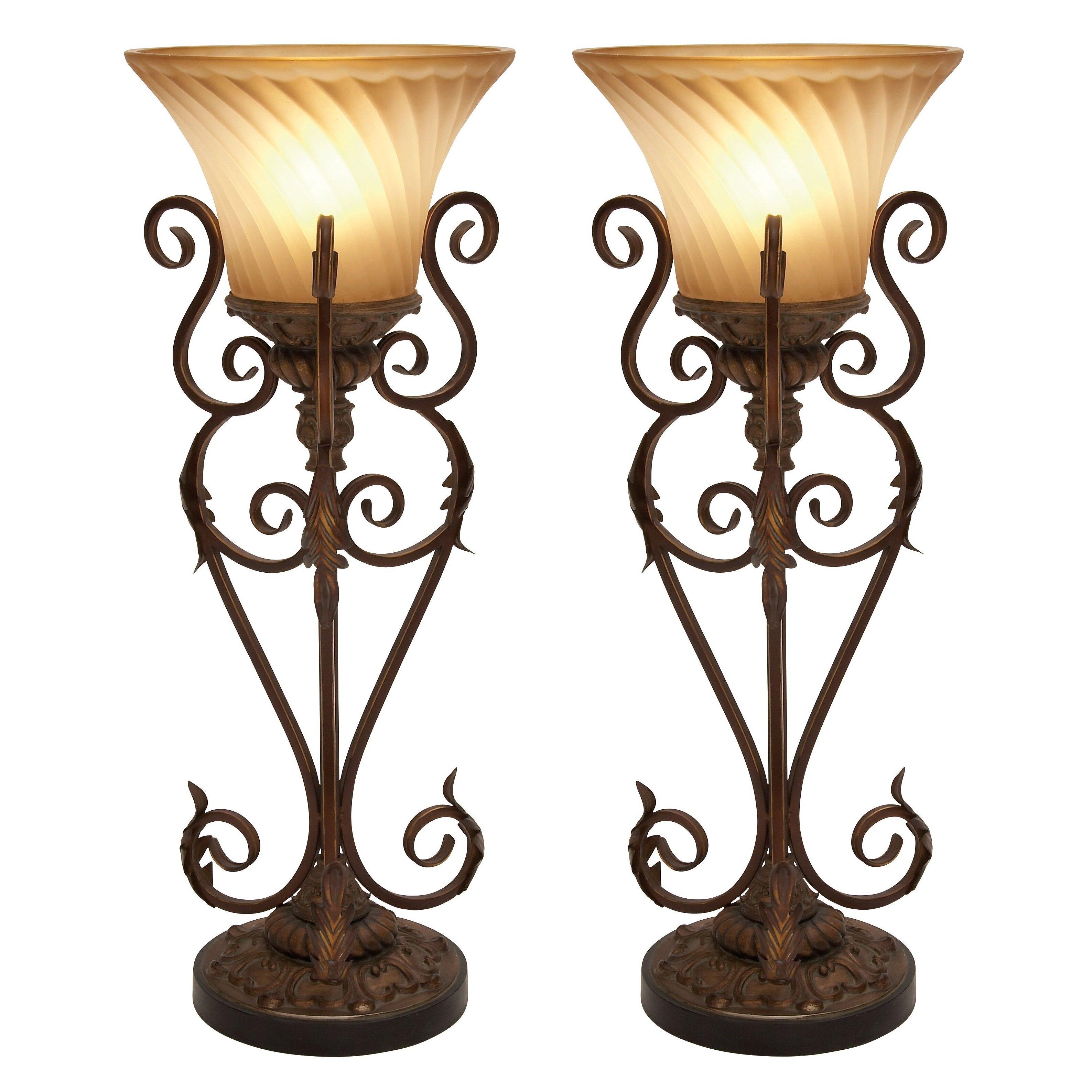 aspire lisette torchiere 30 table lamp set of 2. Black Bedroom Furniture Sets. Home Design Ideas