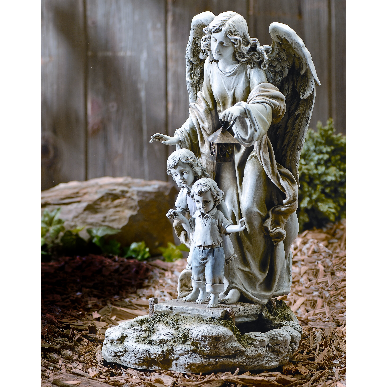 Roman Inc Solar Power Guardian Angel Statue Amp Reviews