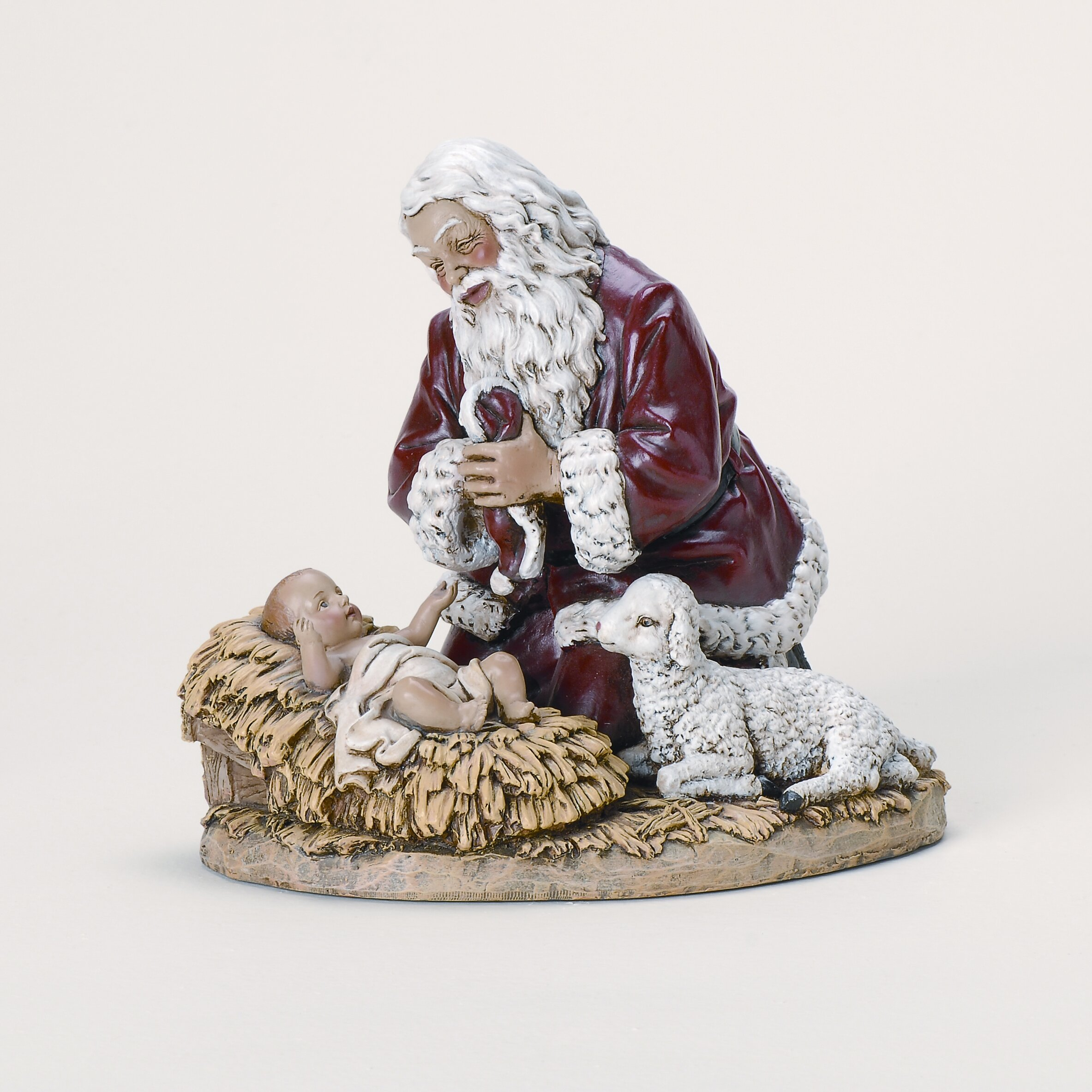 Roman Inc Kneeling Santa Figurine Amp Reviews Wayfair