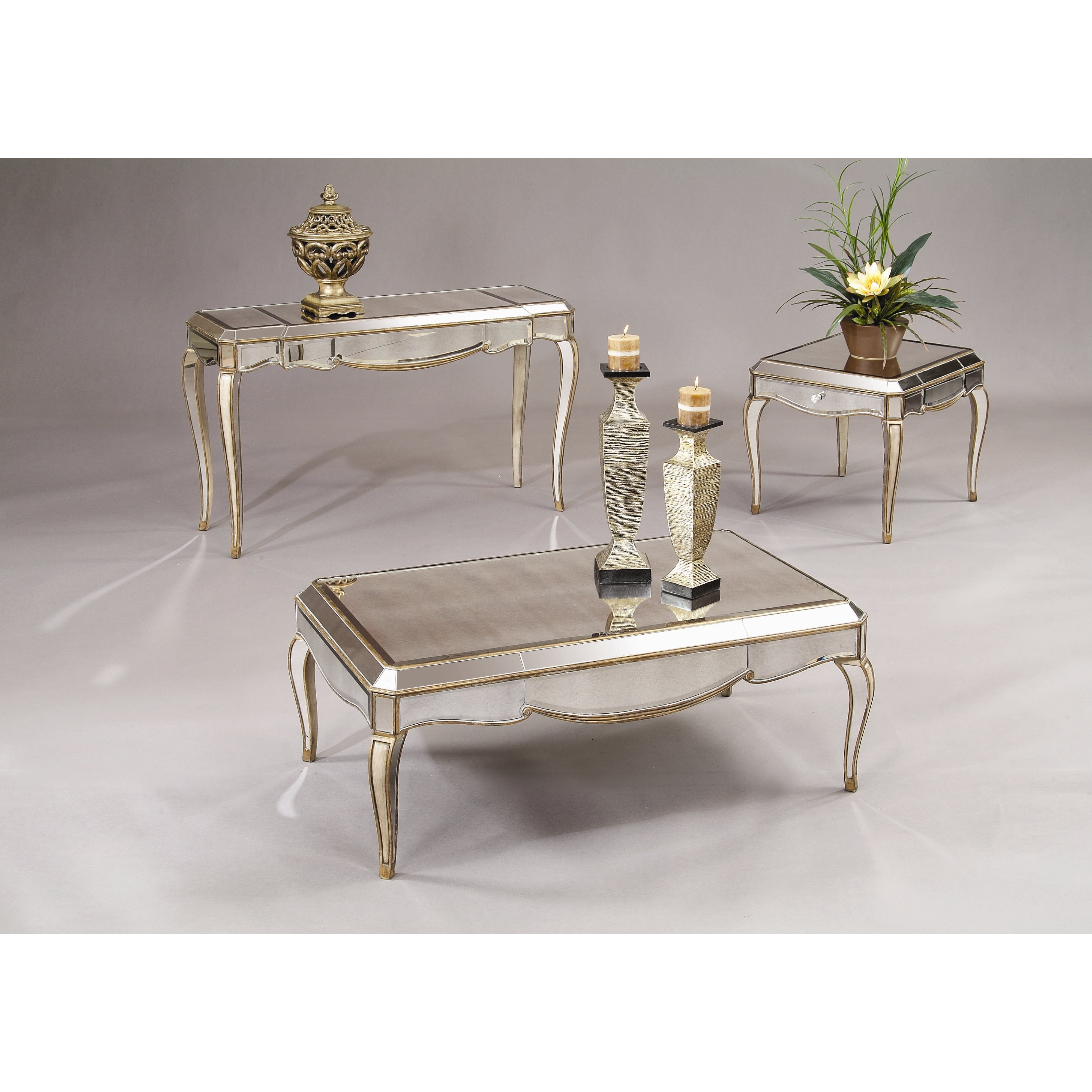 Bassett Mirror Collette Rectangle End Table & Reviews