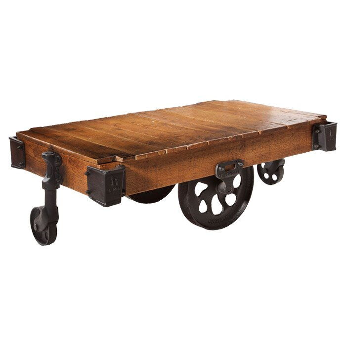 Industrial Chic Coffee Table: Bassett Mirror BM2 Industrial Chic Serving Cart & Reviews