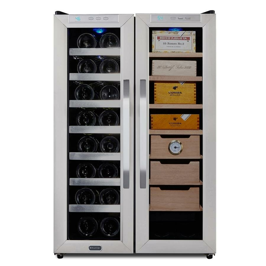 Wine Refrigerator Reviews >> Whynter 16 Bottle Dual Zone Freestanding Wine Refrigerator / Cigar Humidor & Reviews | Wayfair