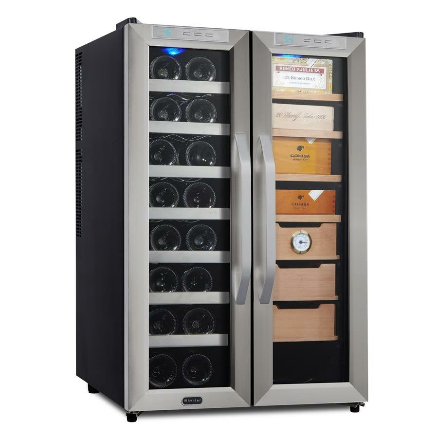 Whynter 16 Bottle Dual Zone Freestanding Wine Refrigerator