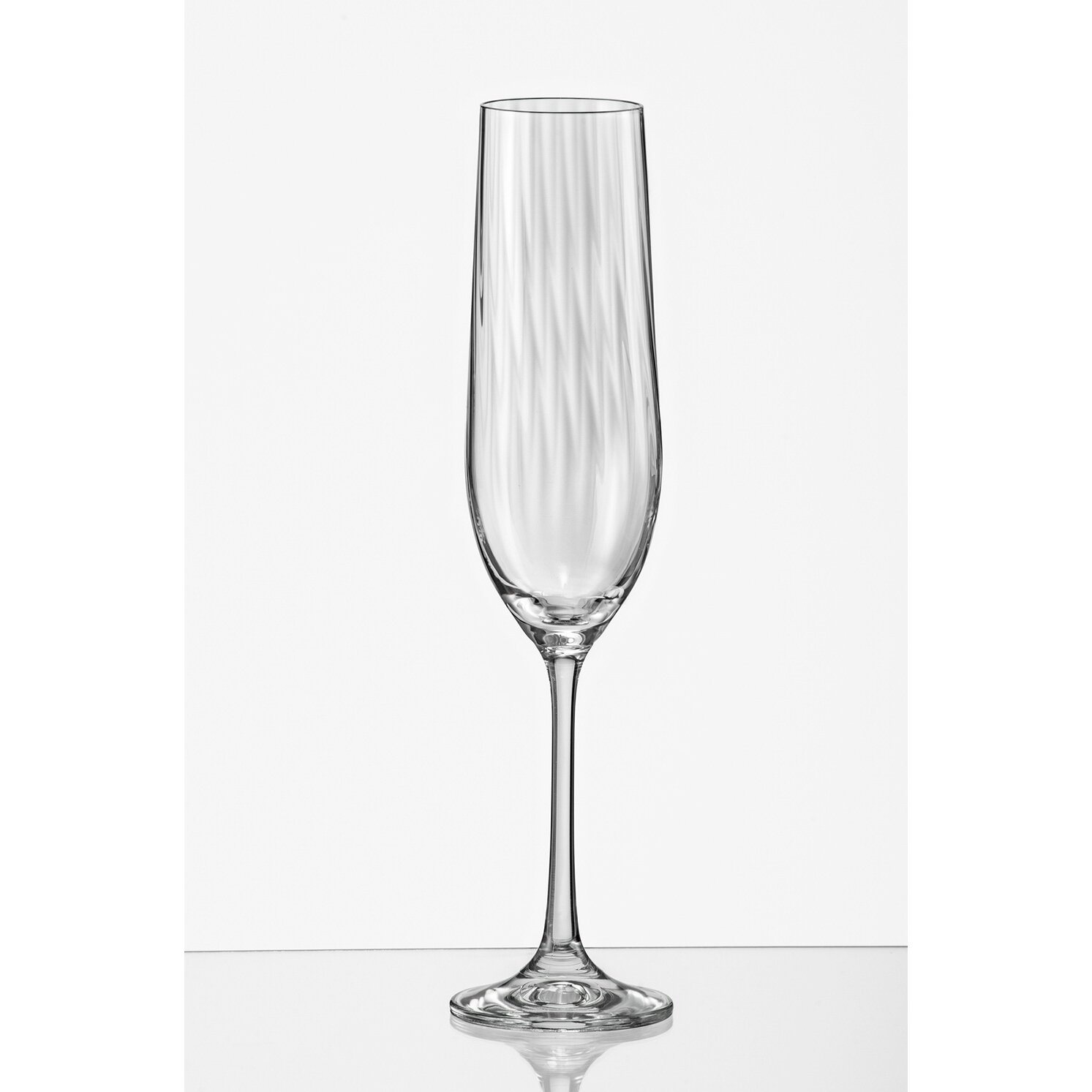 Red vanilla viola optic fluted champagne glass wayfair - Fluted wine glasses ...