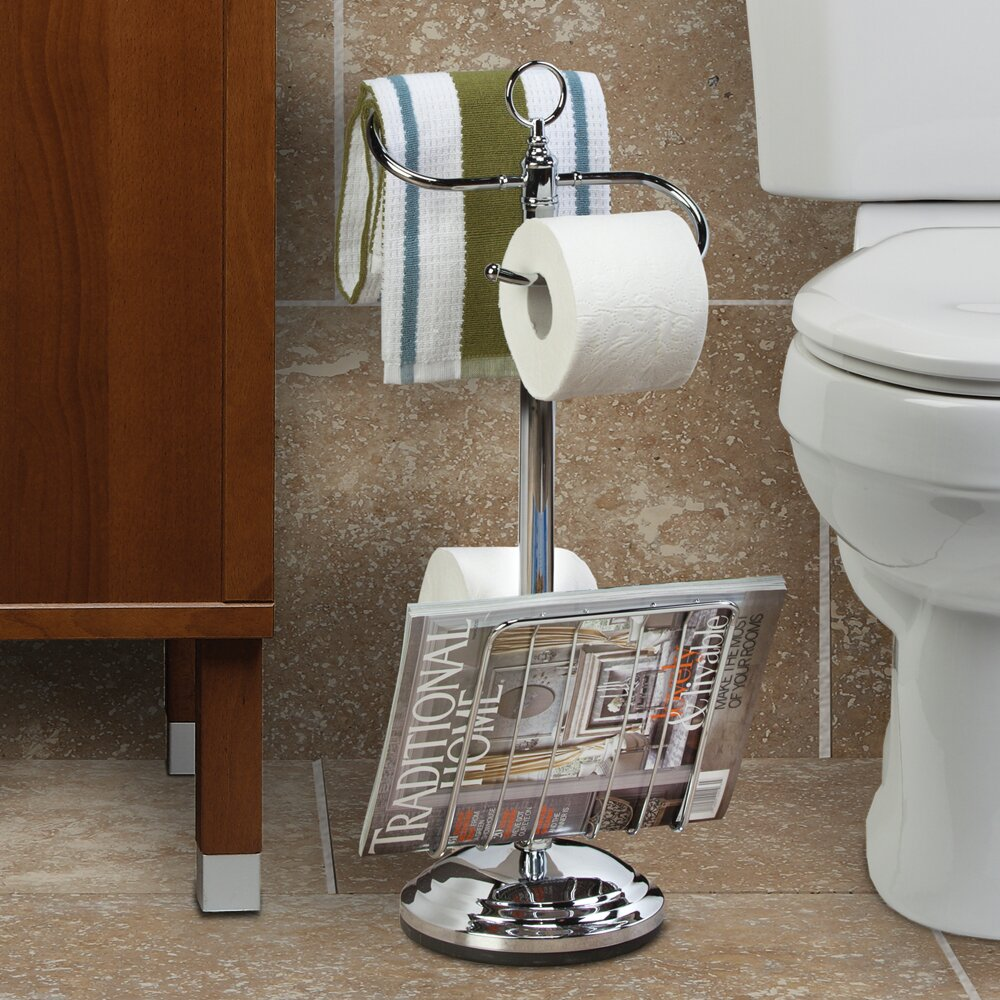 Better living products the toilet caddy free standing - Bathroom toilet paper holder free standing ...