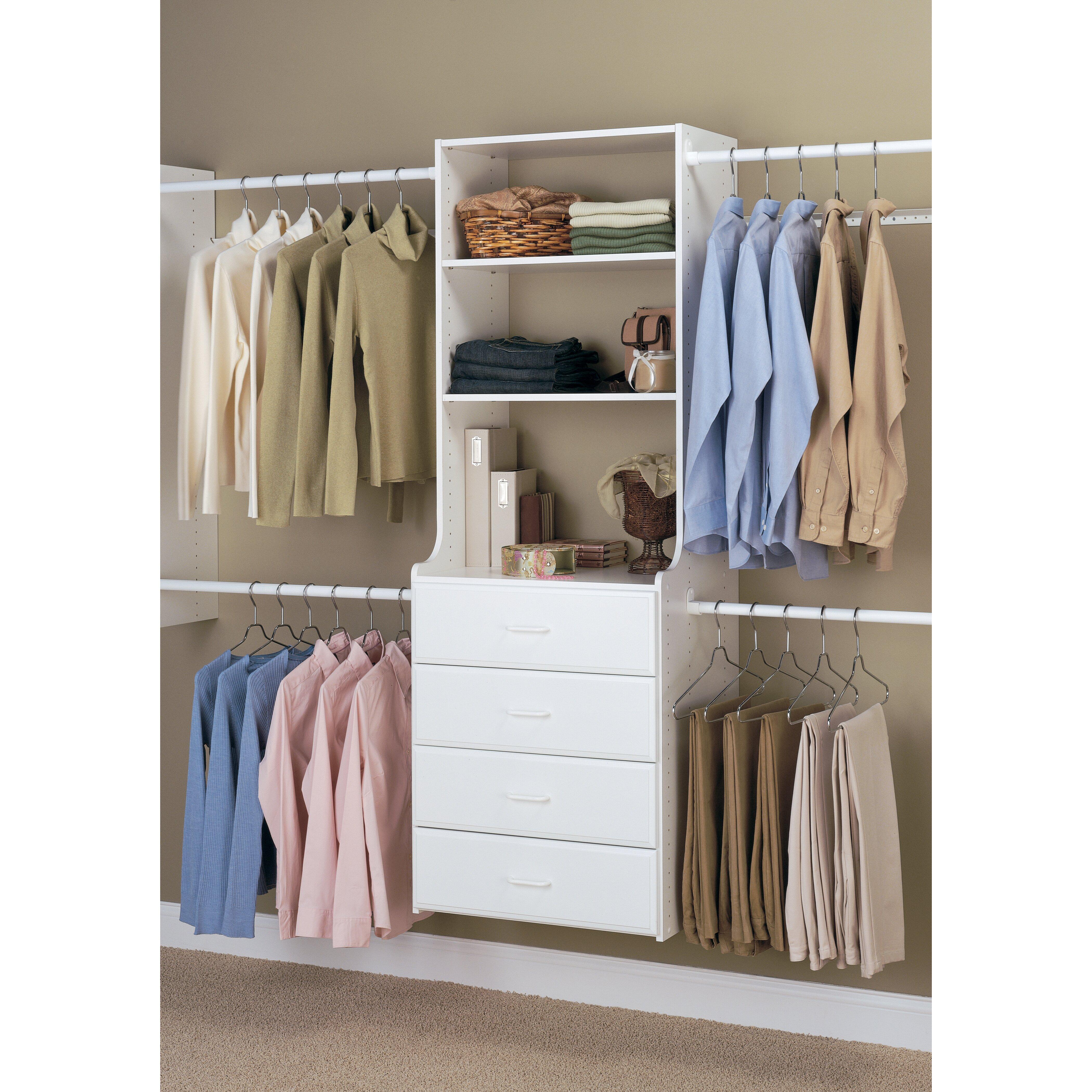 easy track hanging 24 wide closet system reviews wayfair. Black Bedroom Furniture Sets. Home Design Ideas