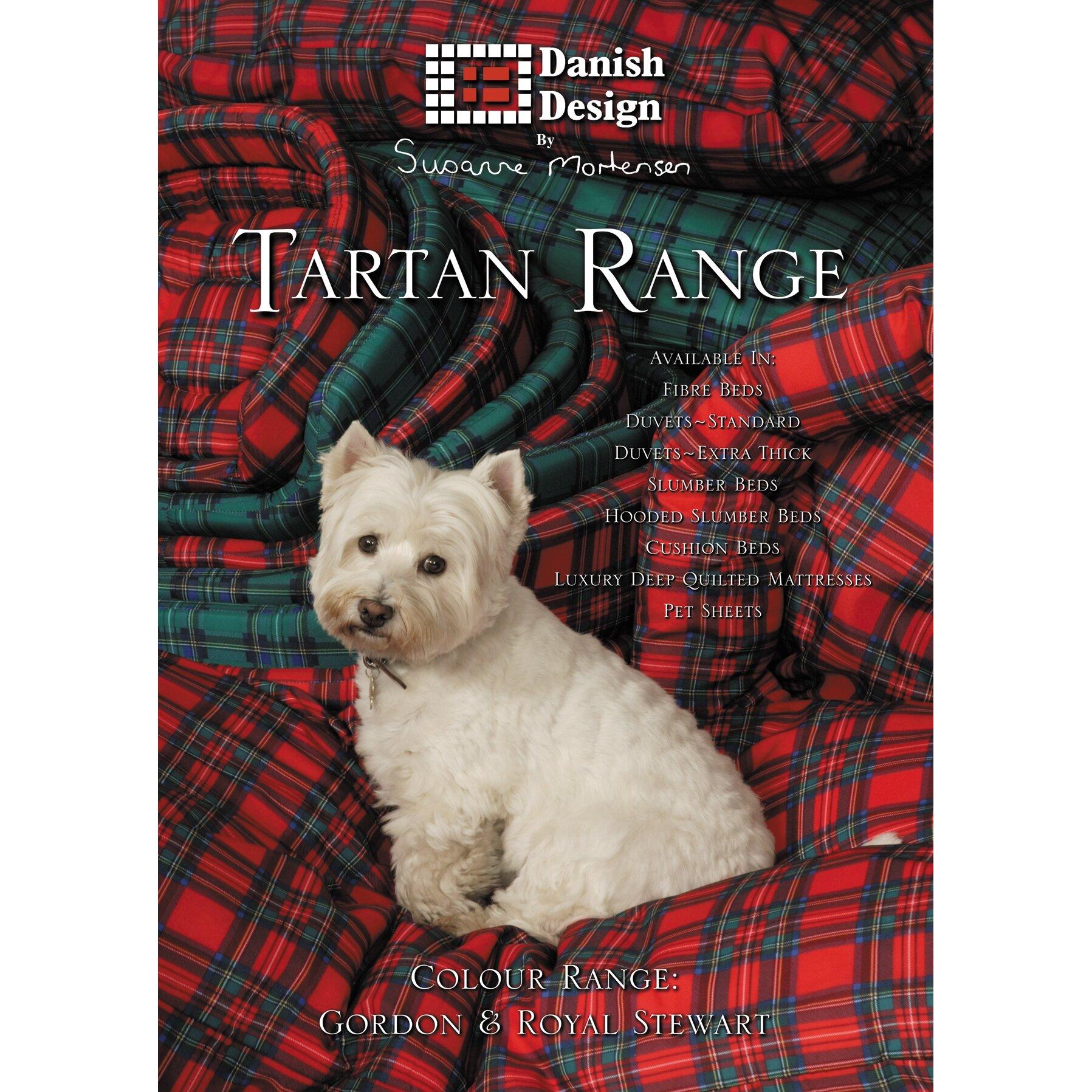Danish Design Royal Stewart Tartan Pet Mattress in Black ...
