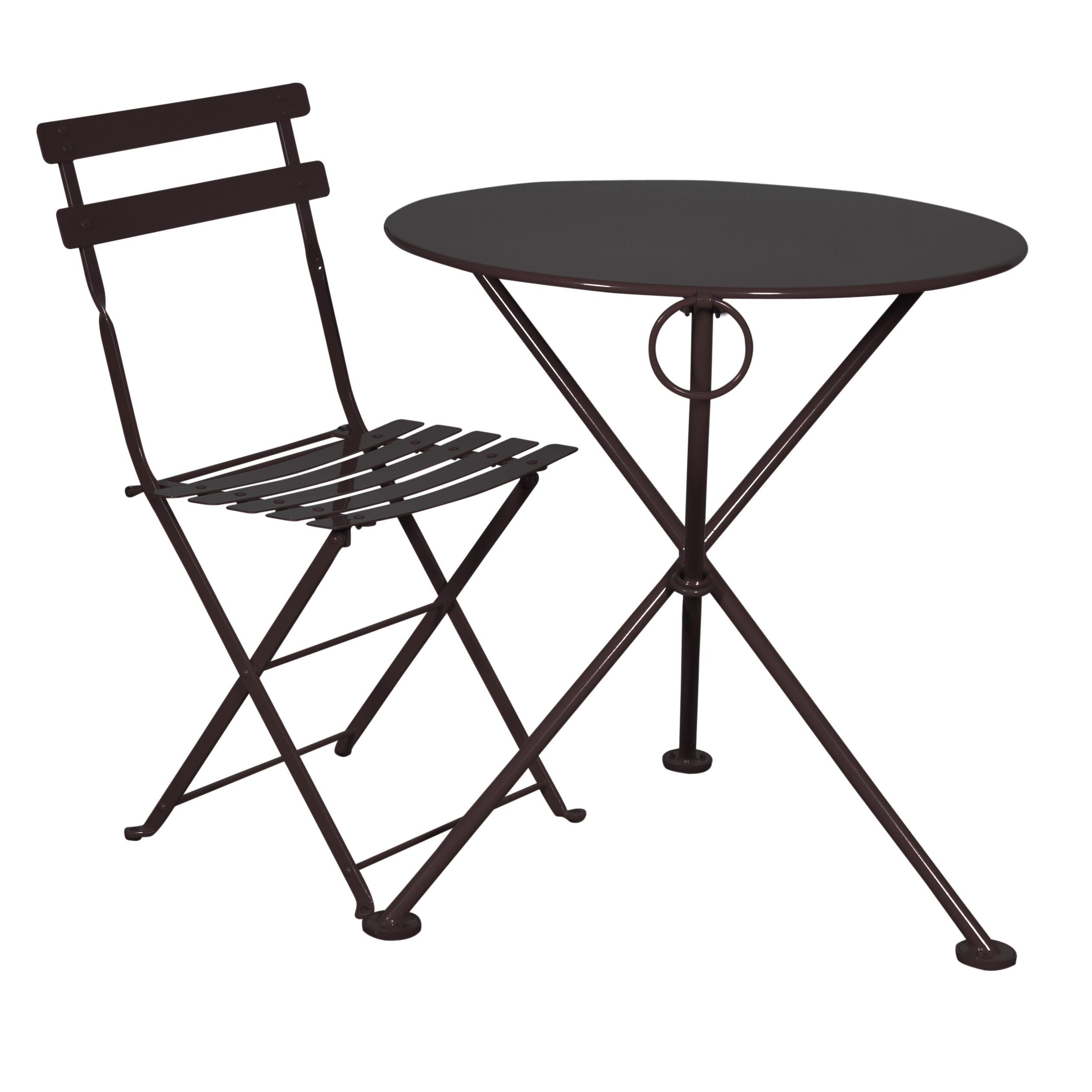 Furniture designhouse french bistro european caf folding for Metal patio table chairs