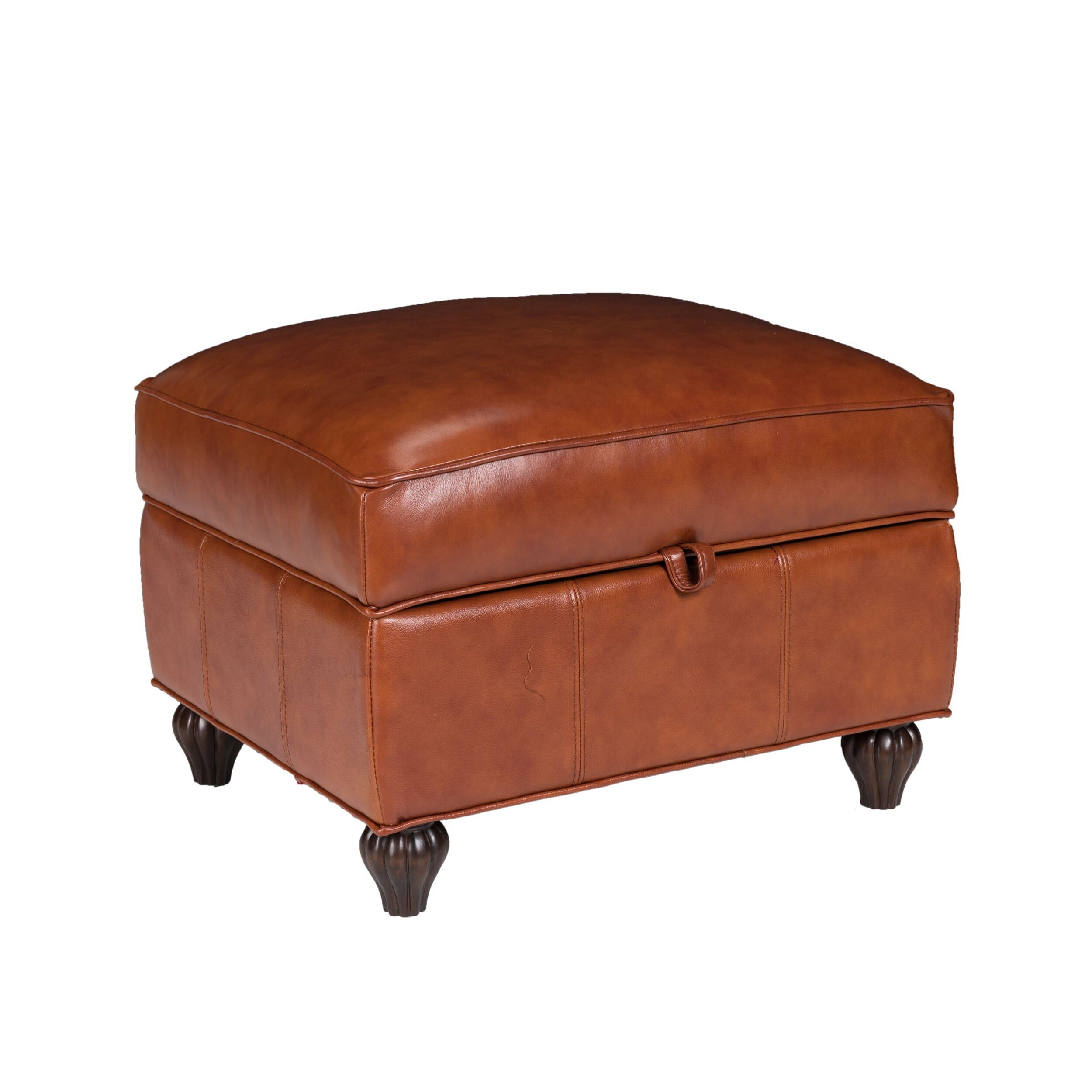 Opulence home benjamin leather storage ottoman reviews for What is an ottoman for