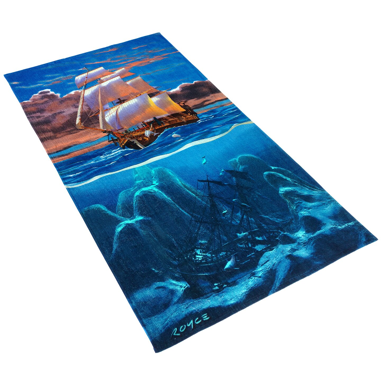 Beach Towel: Kaufman Sales Royce Sailaway Printed Beach Towel