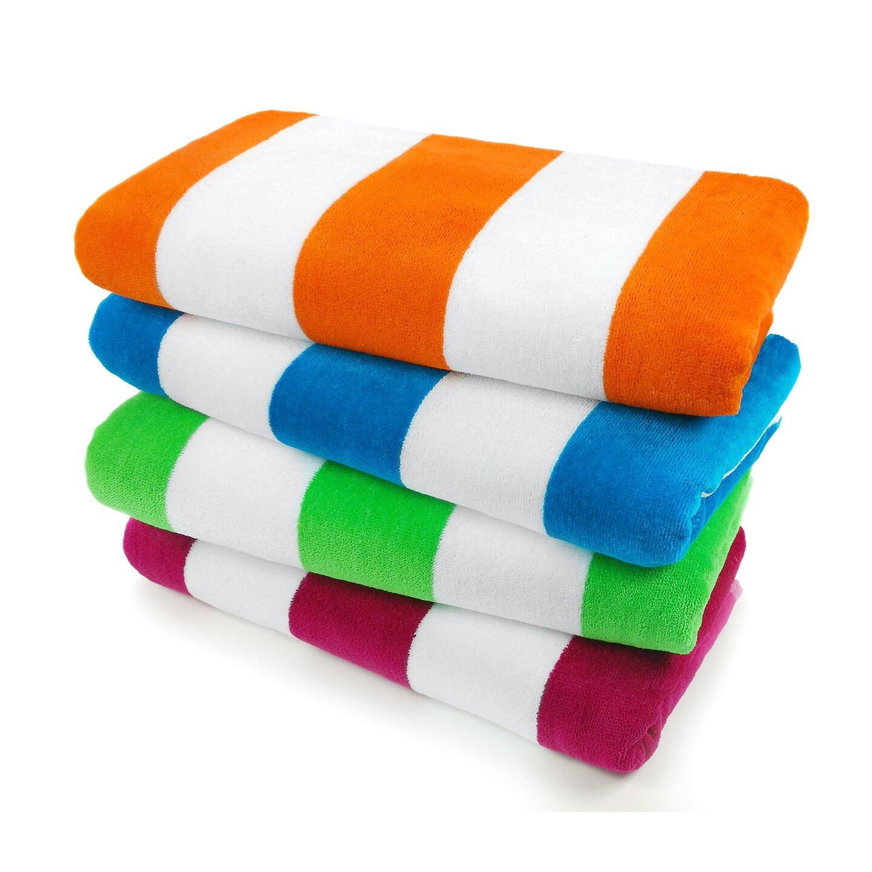 Kaufman Sales Velour Cabana Light Beach Towel Reviews Wayfair