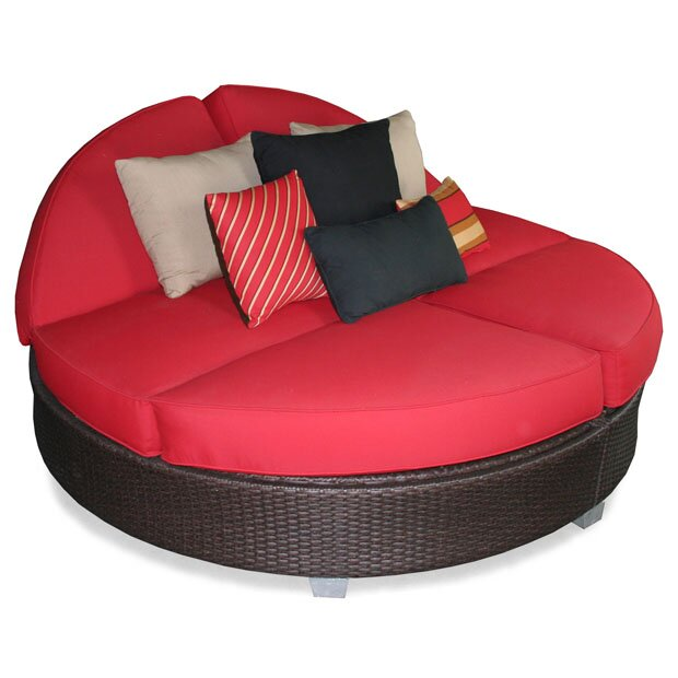 Patio Heaven Signature Round Double Chaise Lounge ...
