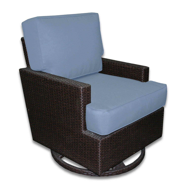 Patio Heaven Signature Swivel Rocking Chair with Cushions  Wayfair