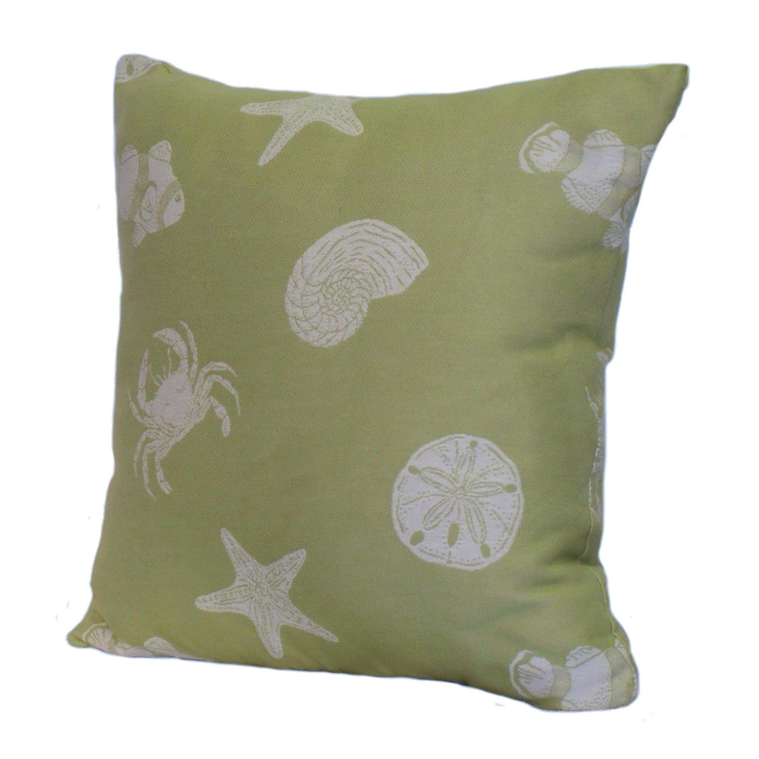 Key Decorative Pillow : Rennie & Rose Design Group Key West Shells Stuffed Throw Pillow & Reviews Wayfair