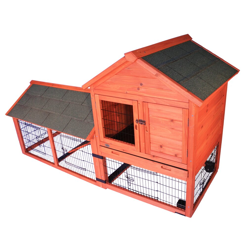 Trixie natura small animal hutch reviews wayfair for Outdoor bunny hutch