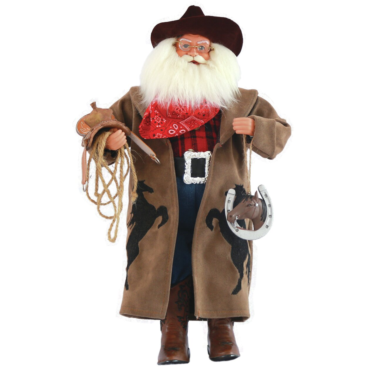Santa s workshop cowboy with horseshoe figurine reviews