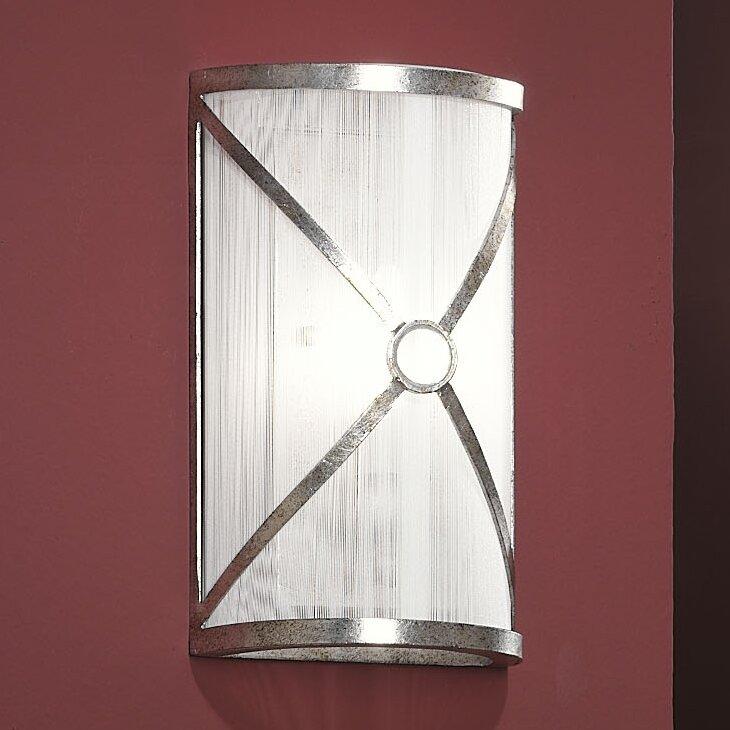 Schuller Esparta 1 Light Wall Lamp in Silver Wayfair UK