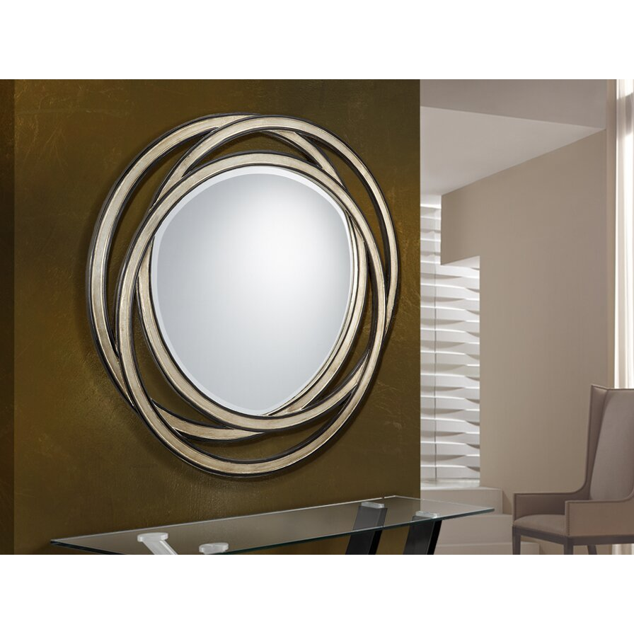 Schuller modern interweaved fretwork rings mirror for Miroir design rond