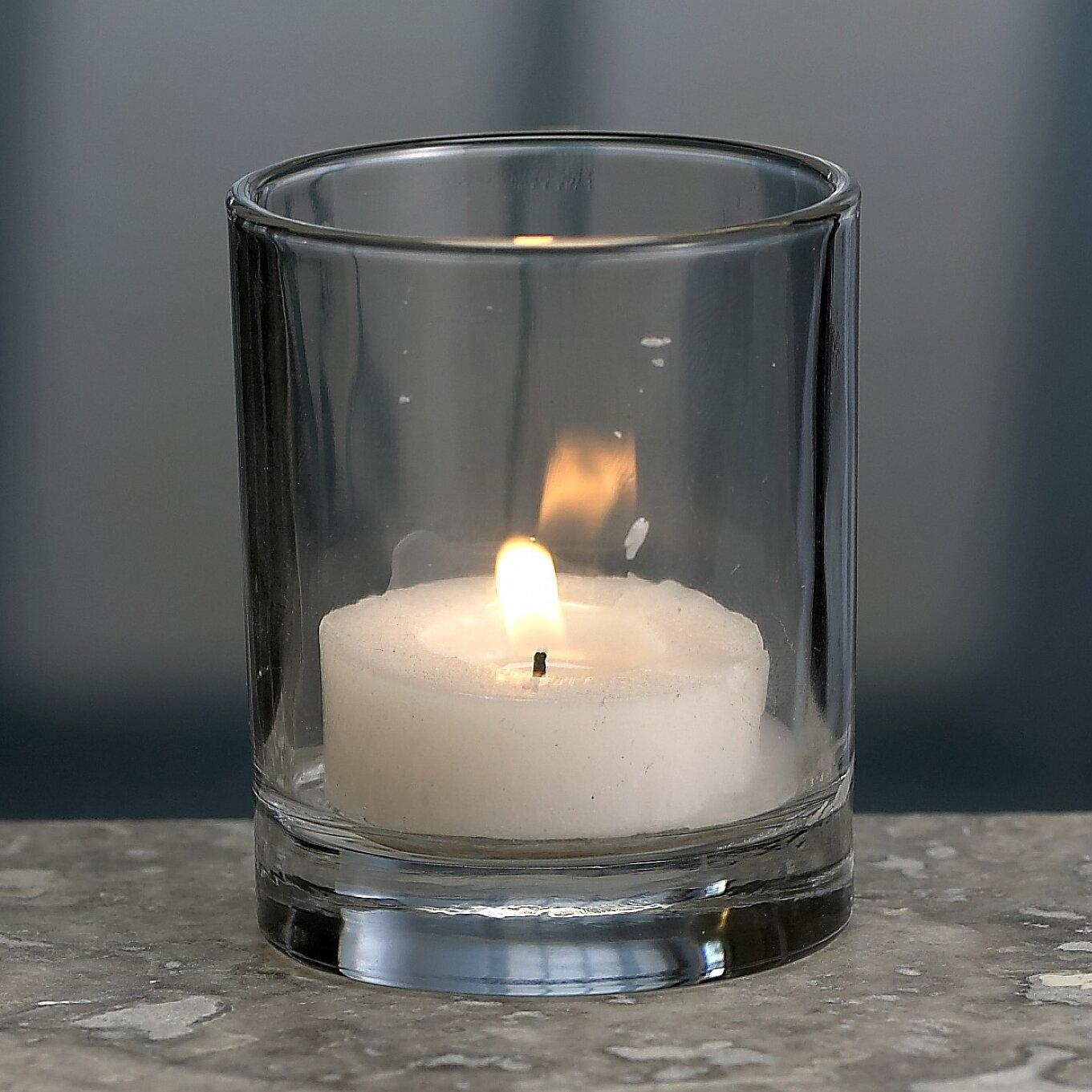 Biedermann and Sons Glass Tea Light and Votive Candle Holder & Reviews Wayfair