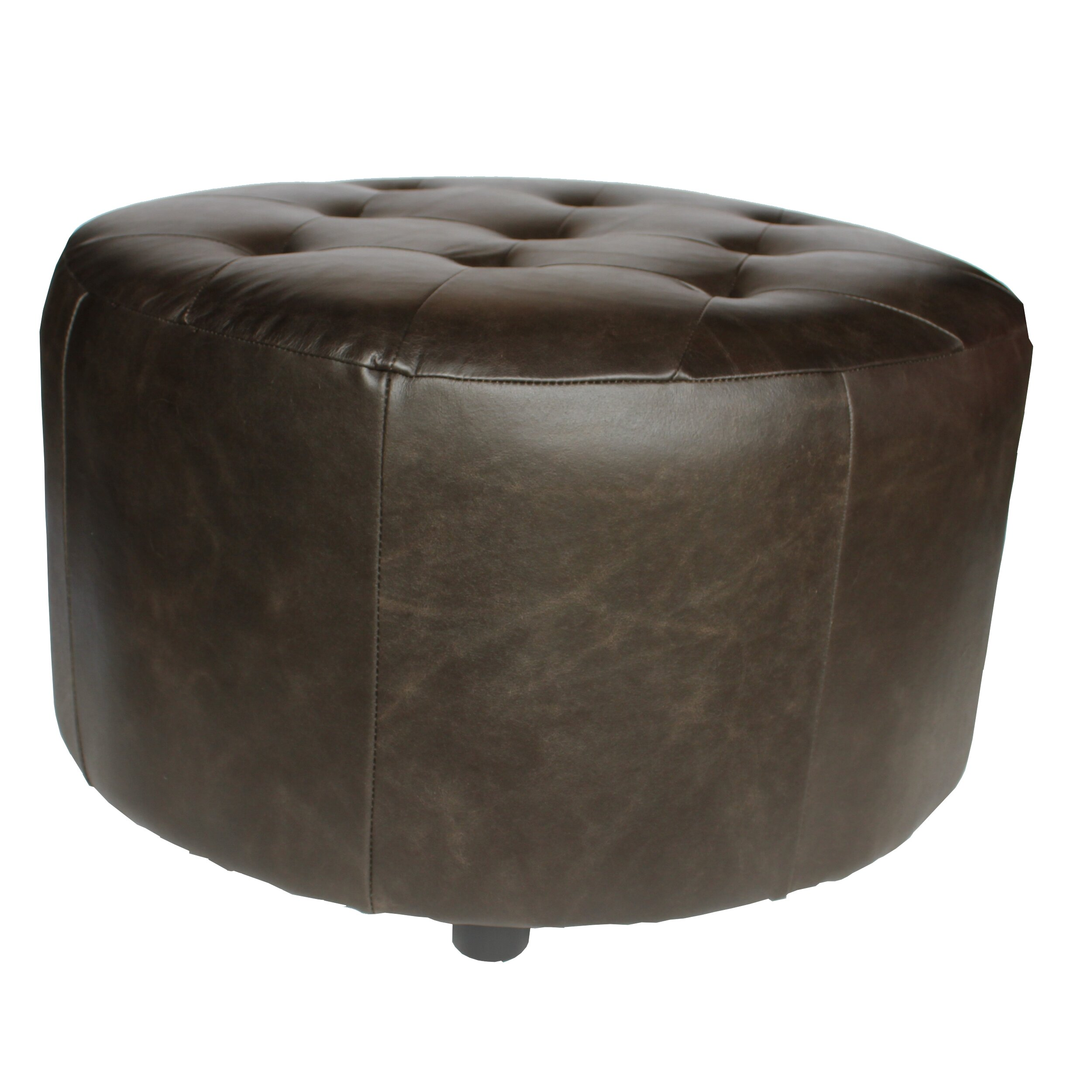 Elegant home fashions arlington leather ottoman reviews for 30 inch round ottoman
