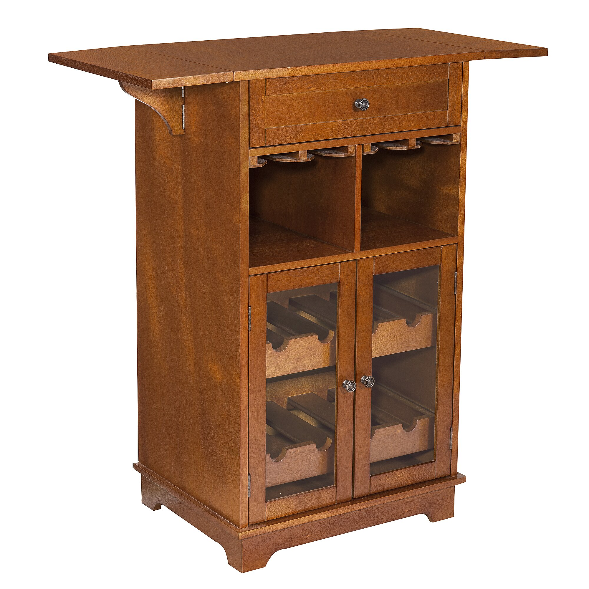 Elegant home fashions peoria 8 bottle floor wine cabinet for Floor wine cabinet