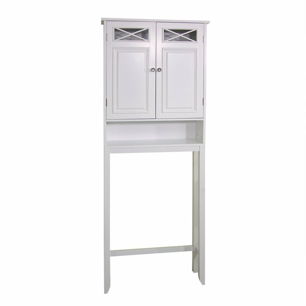 Darby home co coddington 25 x 68 free standing over the for Over the toilet cabinet