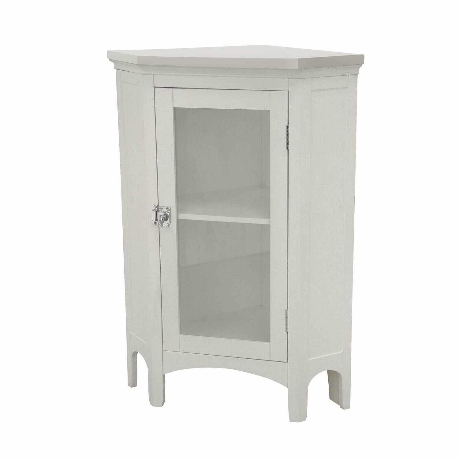 Beachcrest home sumter corner freestanding floor cabinet for Floor standing corner bathroom cabinet