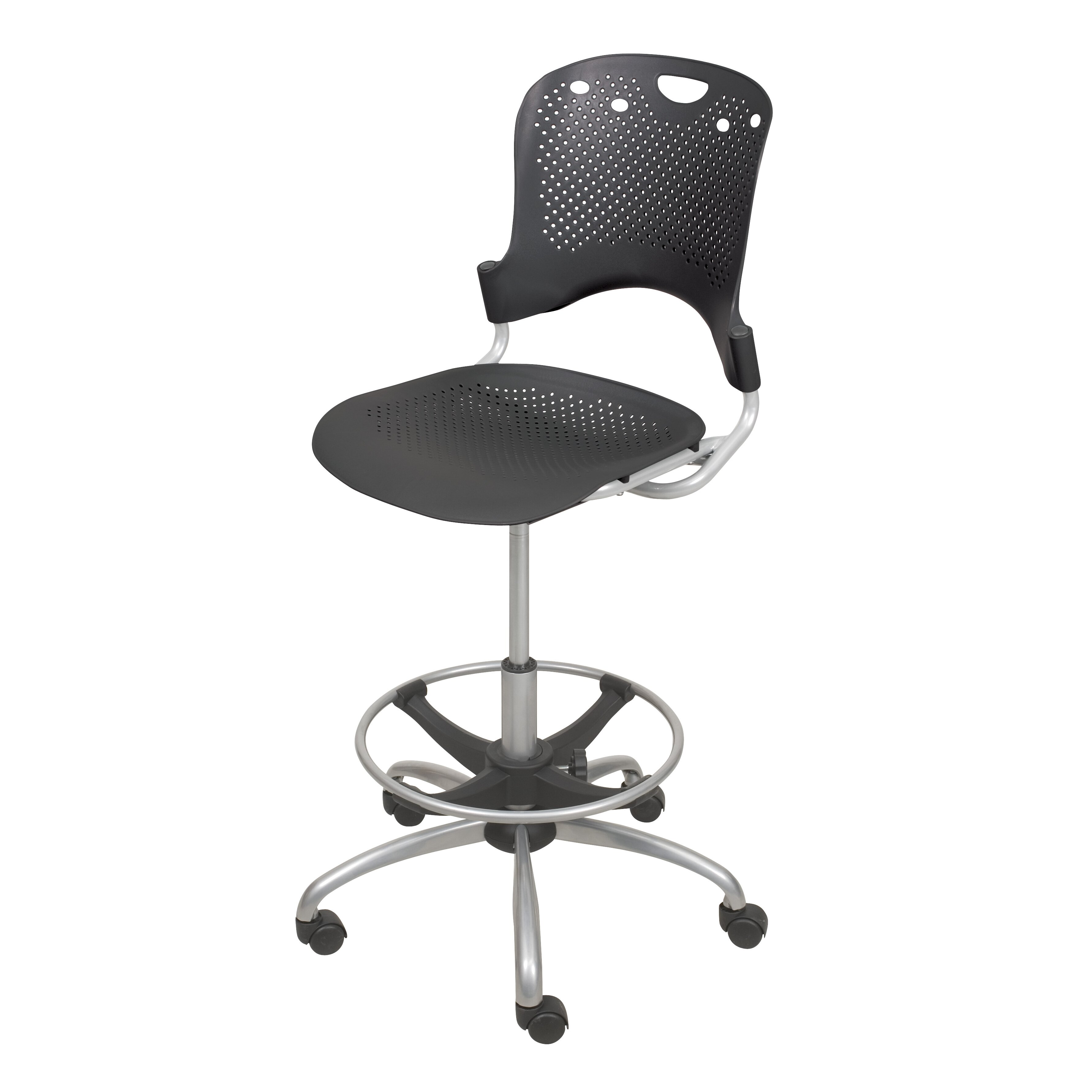 Balt Height Adjustable Circulation Drafting Chair With