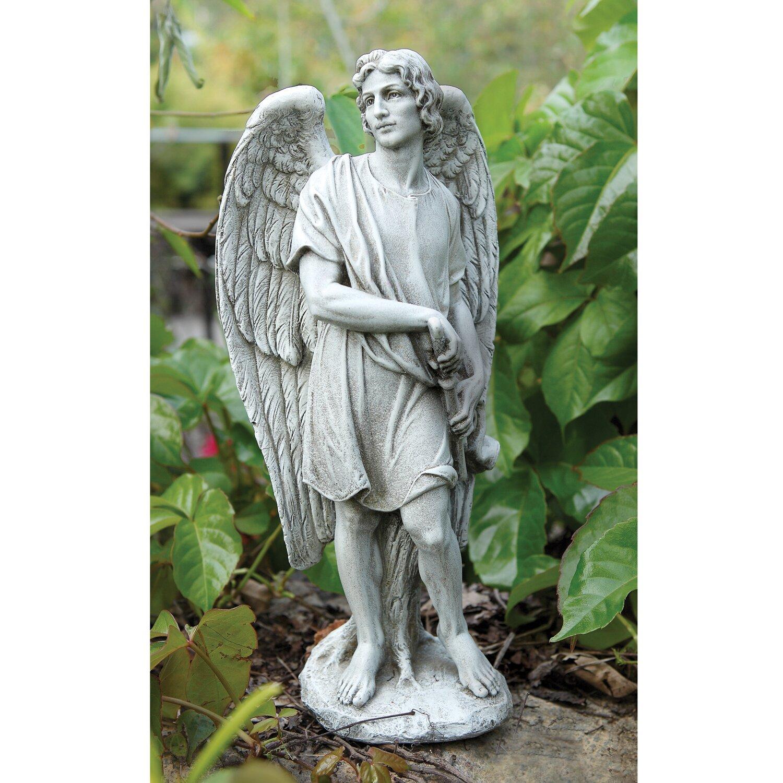 Wayfair Garden Statues: Joseph's Studio Male Garden Angel Statue & Reviews