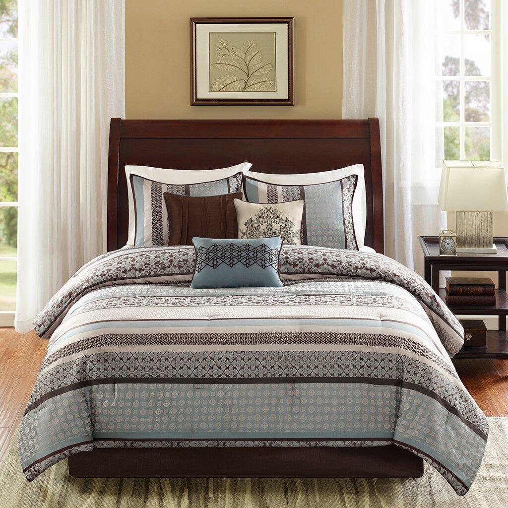 Madison Park Princeton 7 Piece Reversible Comforter Set