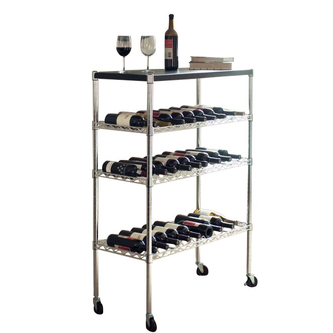 Lavish home 27 bottle floor wine rack reviews wayfair for Floor wine rack