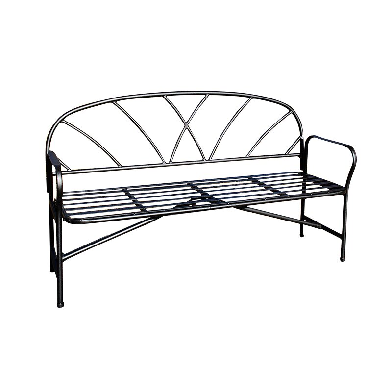 Achla lattice wrought iron garden bench reviews wayfair Wrought iron outdoor bench