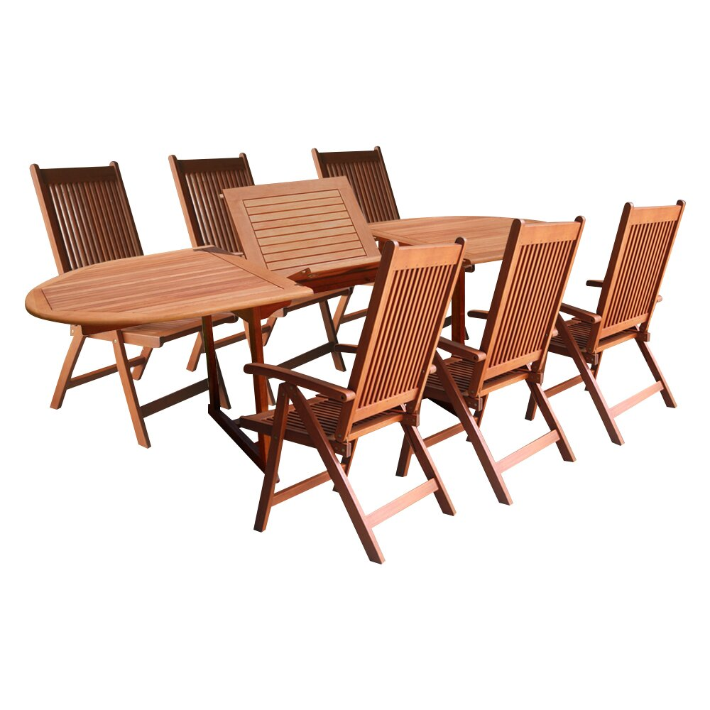 Vifah vista 7 piece dining set reviews wayfair for 7 piece dining set