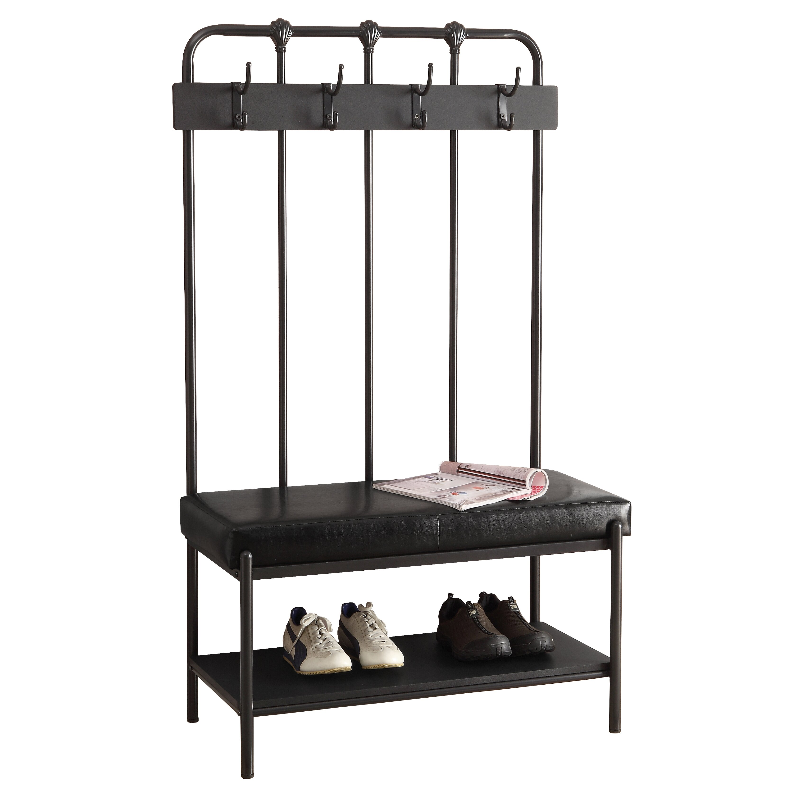 Monarch Specialties Inc Metal Hall Tree With Bench