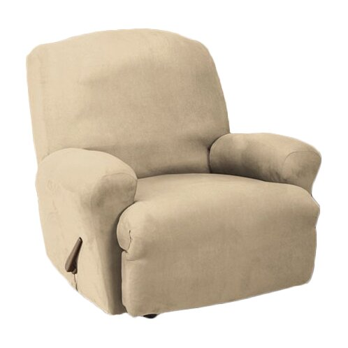 sure fit stretch faux suede t cushion recliner slipcover