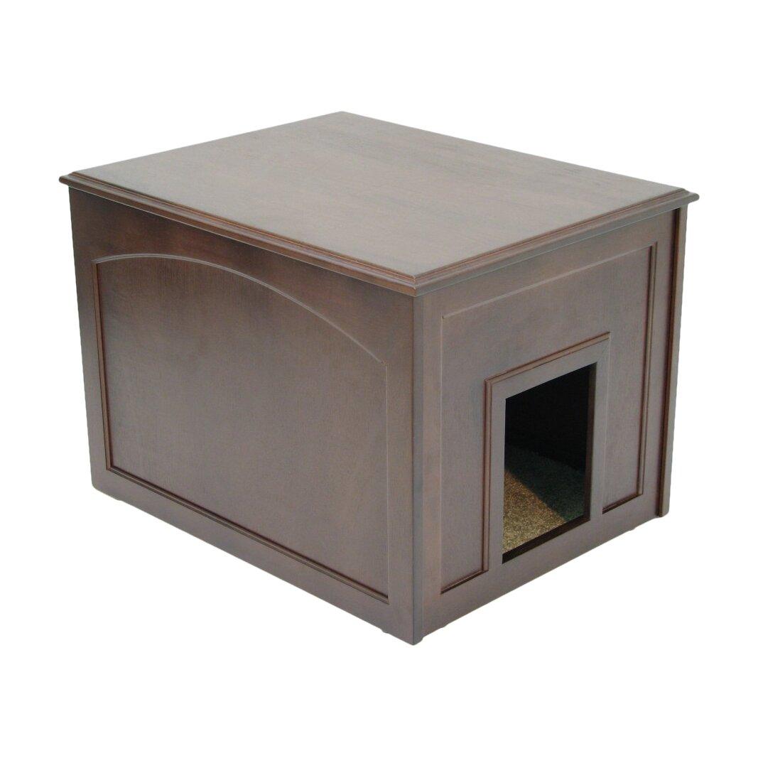 Crown Pet Products Cat Condo Litter Box Enclosure Reviews Wayfair