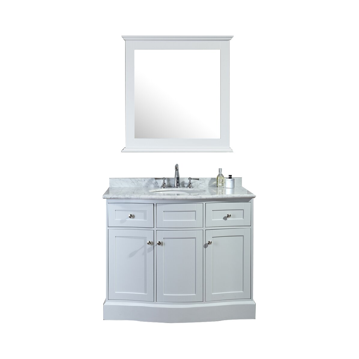 Ariel bath montauk 42 single bathroom vanity set with for Bath and vanity set