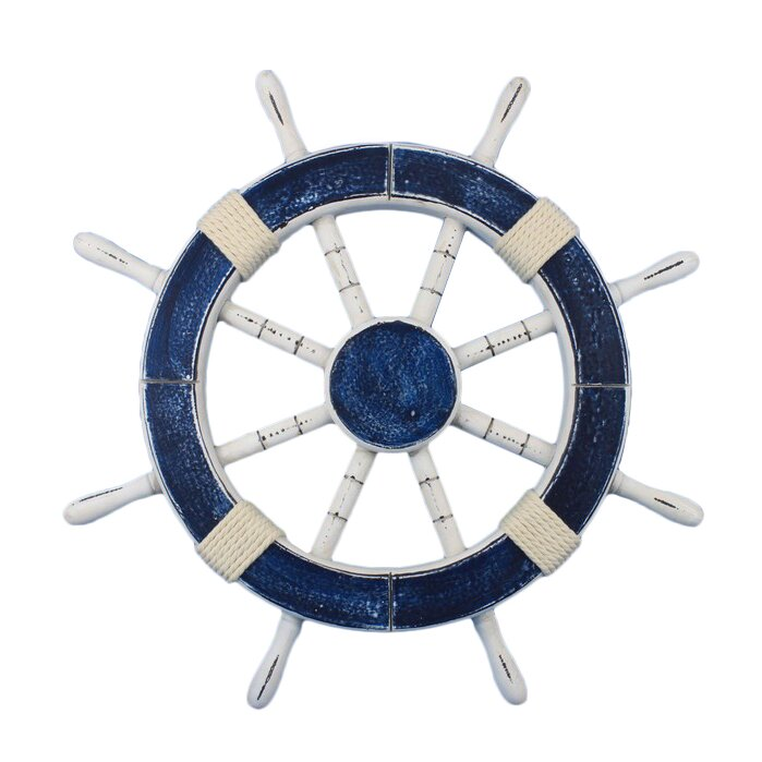 Nautical Wheel Decor: Handcrafted Nautical Decor Rustic Ship Wheel Wall Décor