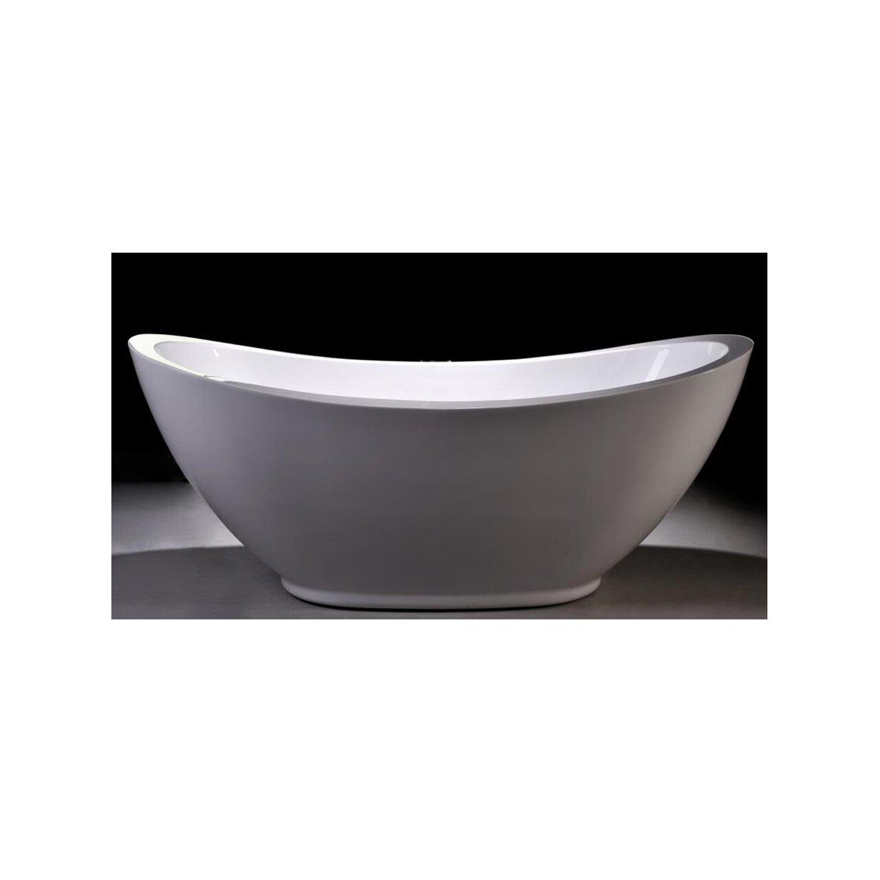 "MTDVanities Seal 69"" X 33.5"" Soaking Bathtub & Reviews"